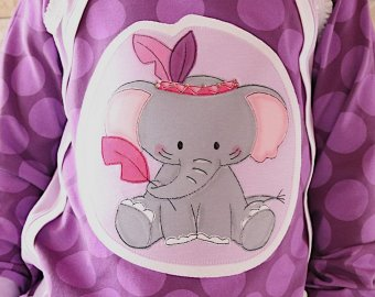 Applikationsvorlage Boho Elefant