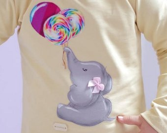 Applikationsvorlage Elefant & Luftballon