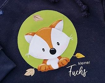 Applikationsvorlage Herbstfuchs Button